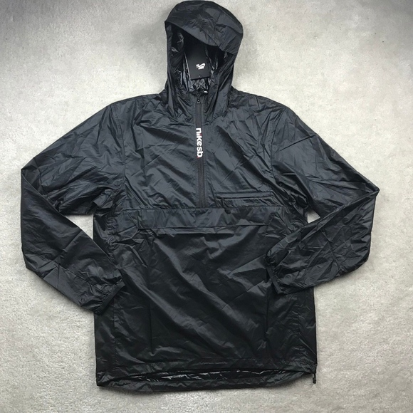 4d3f050908 Nike SB Packable Anorak Half Zip Jacket Black